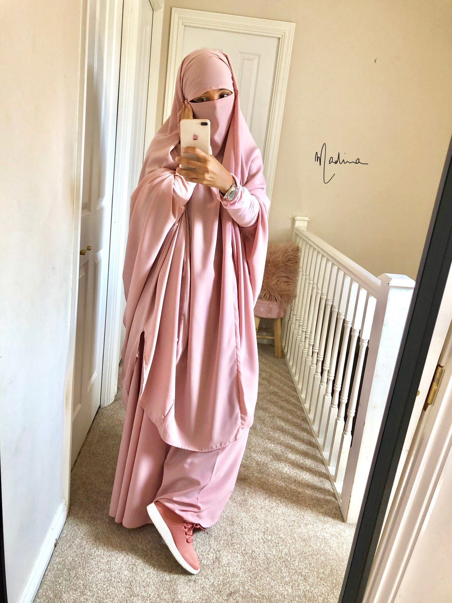 Jilbab Urbana 2 Pieces Soft Pink