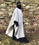 NEW SHATA PONCHO CAPE KNIT CLIPS GREY