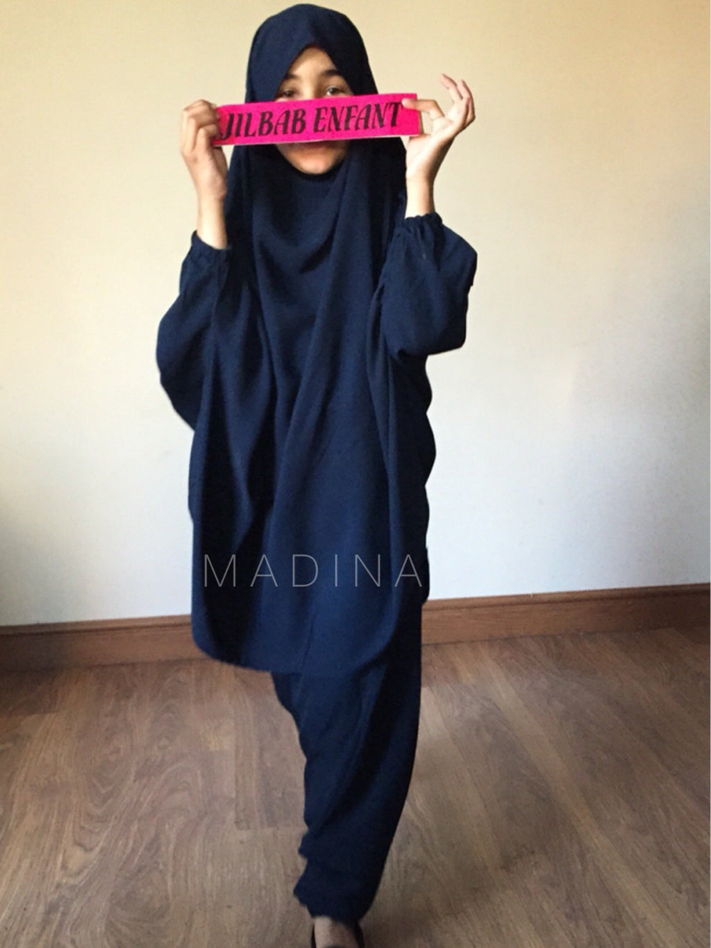 JILBAB GIRL SERWAL/SKIRT  NAVY