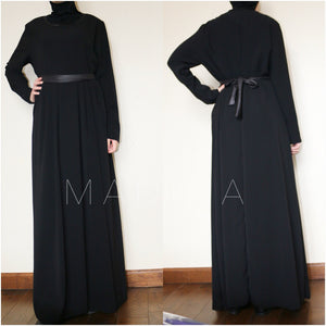 MAXI DRESS LEATHER KNIT LEYLA  (all colors ) last chance