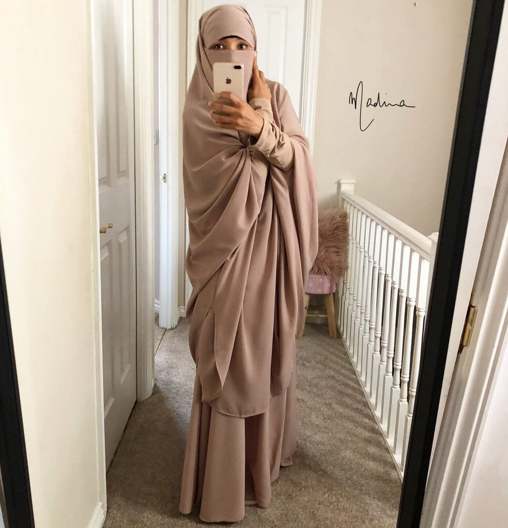 Jilbab Urbana Mocha/Nude 2 PIECES set