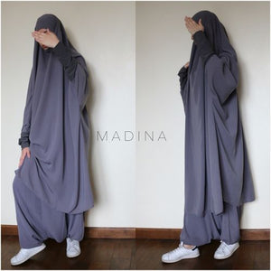 JILBAB AMANA SERWAL OR SKIRT GREY MEDIUM
