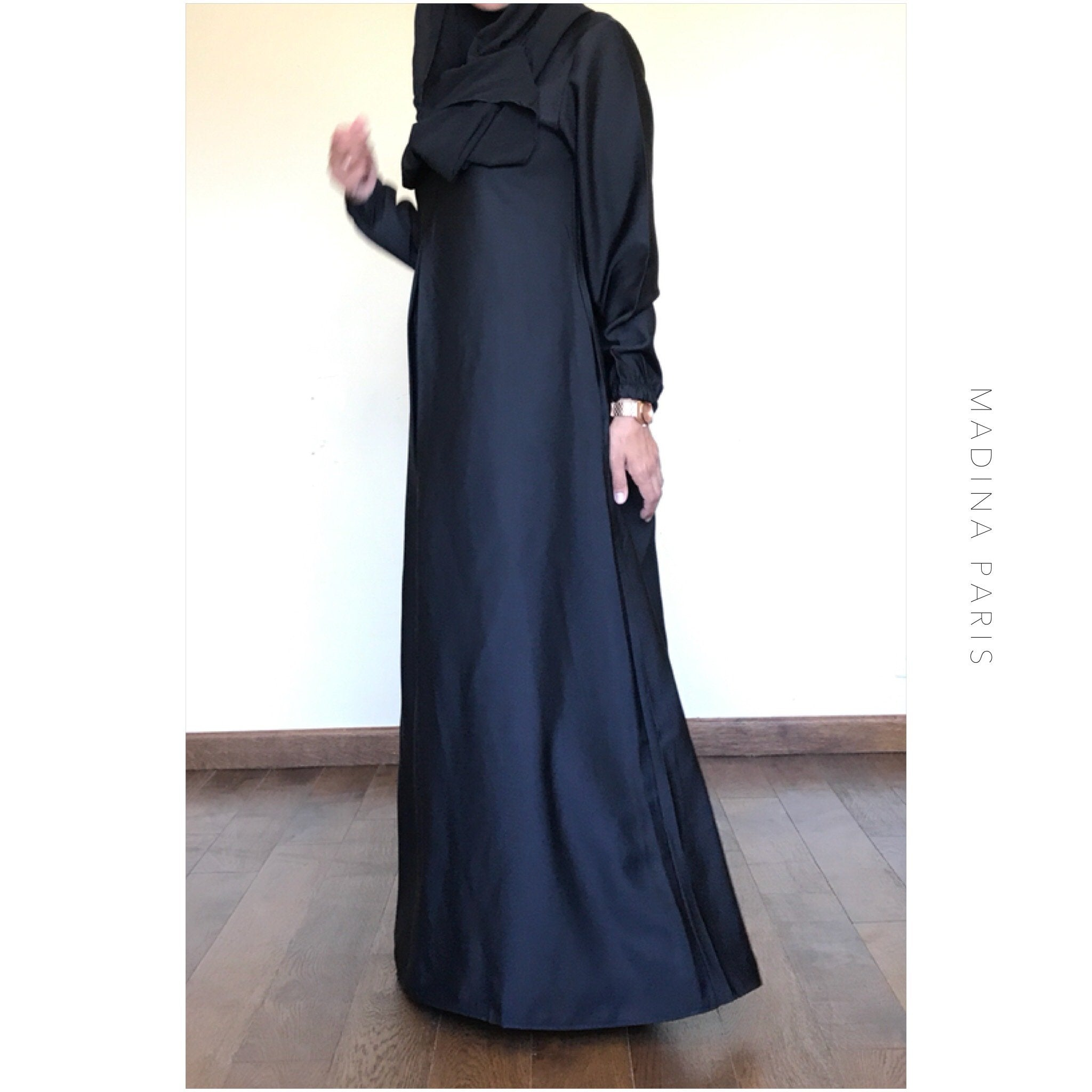 NEW ABAYA NIDHA ELYA BLACK