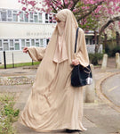 Jilbab Hayya Beige 1 or 2 pieces from