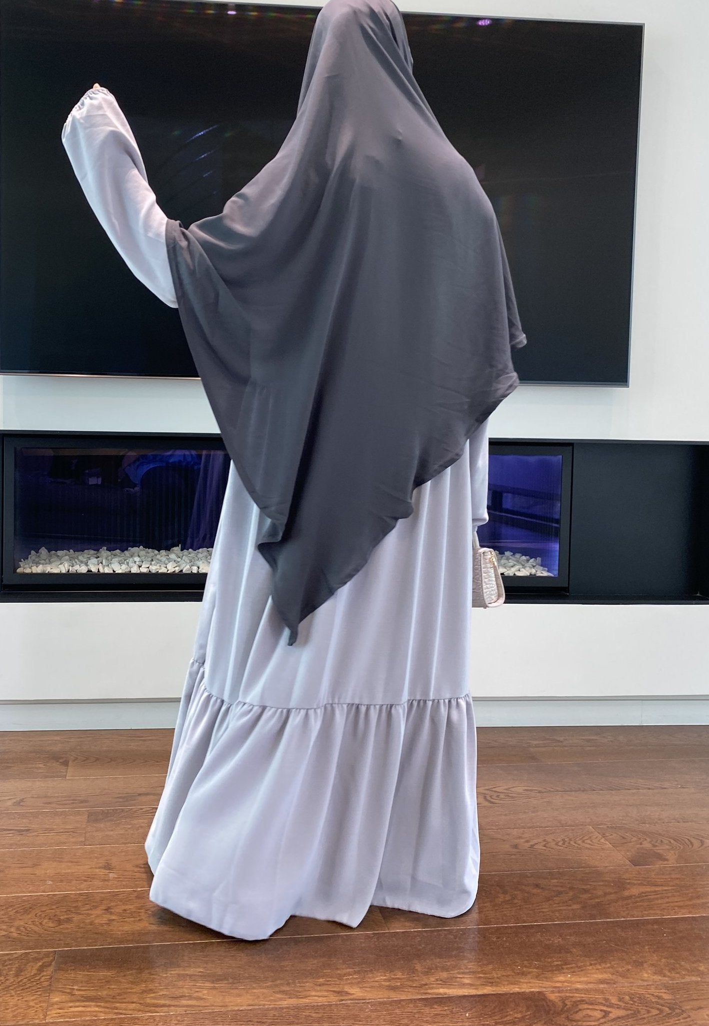 ABAYA ESMERALDA Light Grey