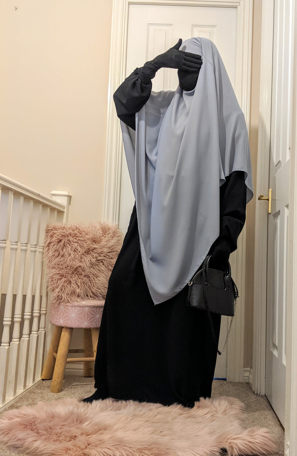 NEW ! CAPE-NIQAB HAYYA light Grey