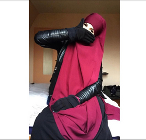 Jilbab Urbana 2 Pieces Burgundy