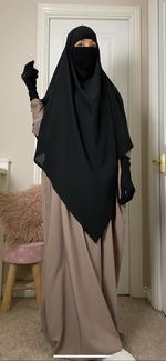 KHIMAR CAPE-NIQAB HAYYA DELUXE (all colours )