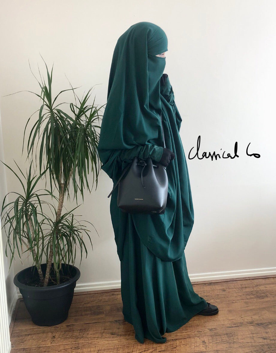 JILBAB CLASSICAL  2P/1P Green Forest