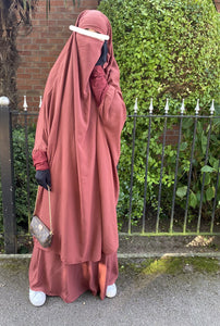 NEW JILBAB AMANA SERWAL OR SKIRT TAN