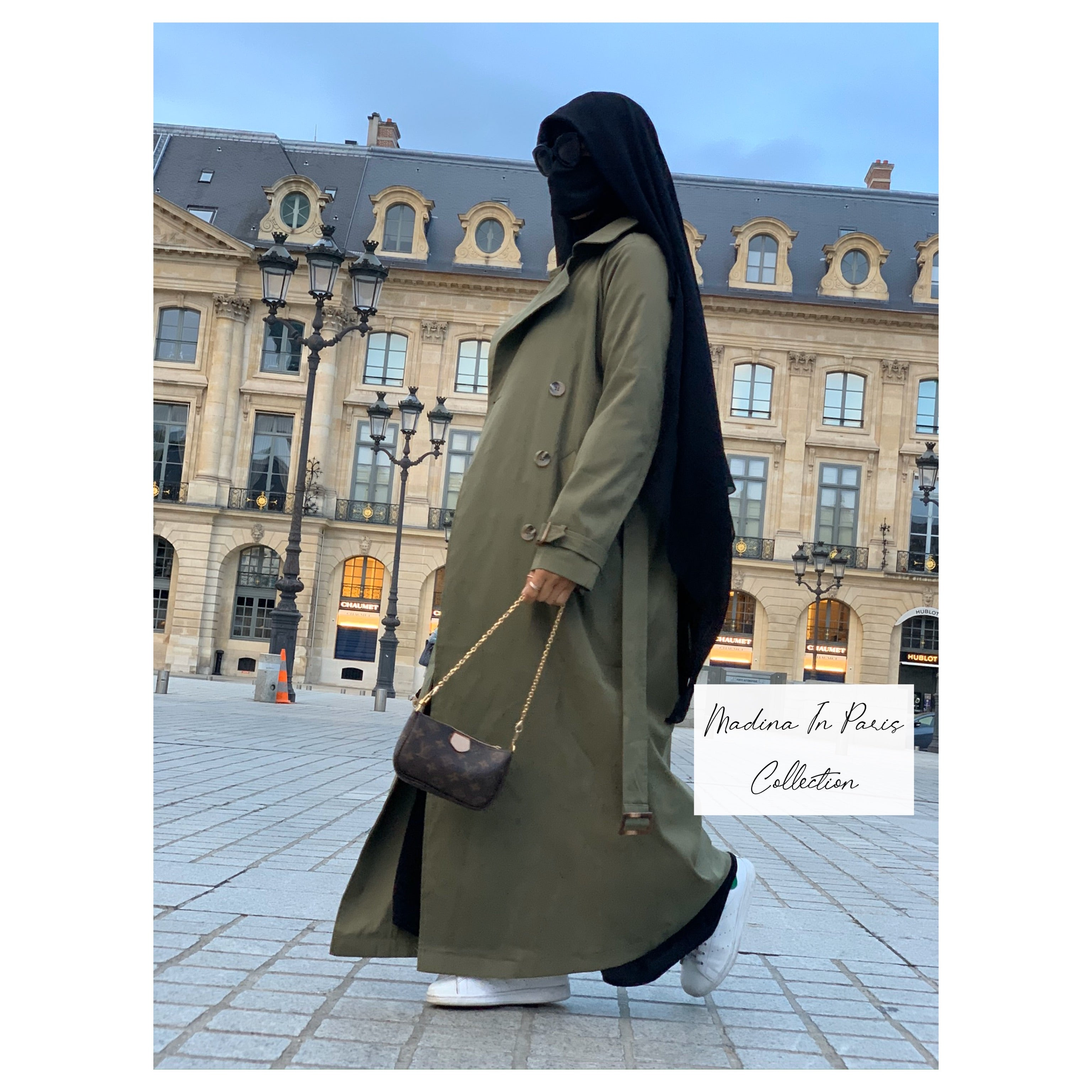 NEW ! MAXI TRENCH PARIS Khaki