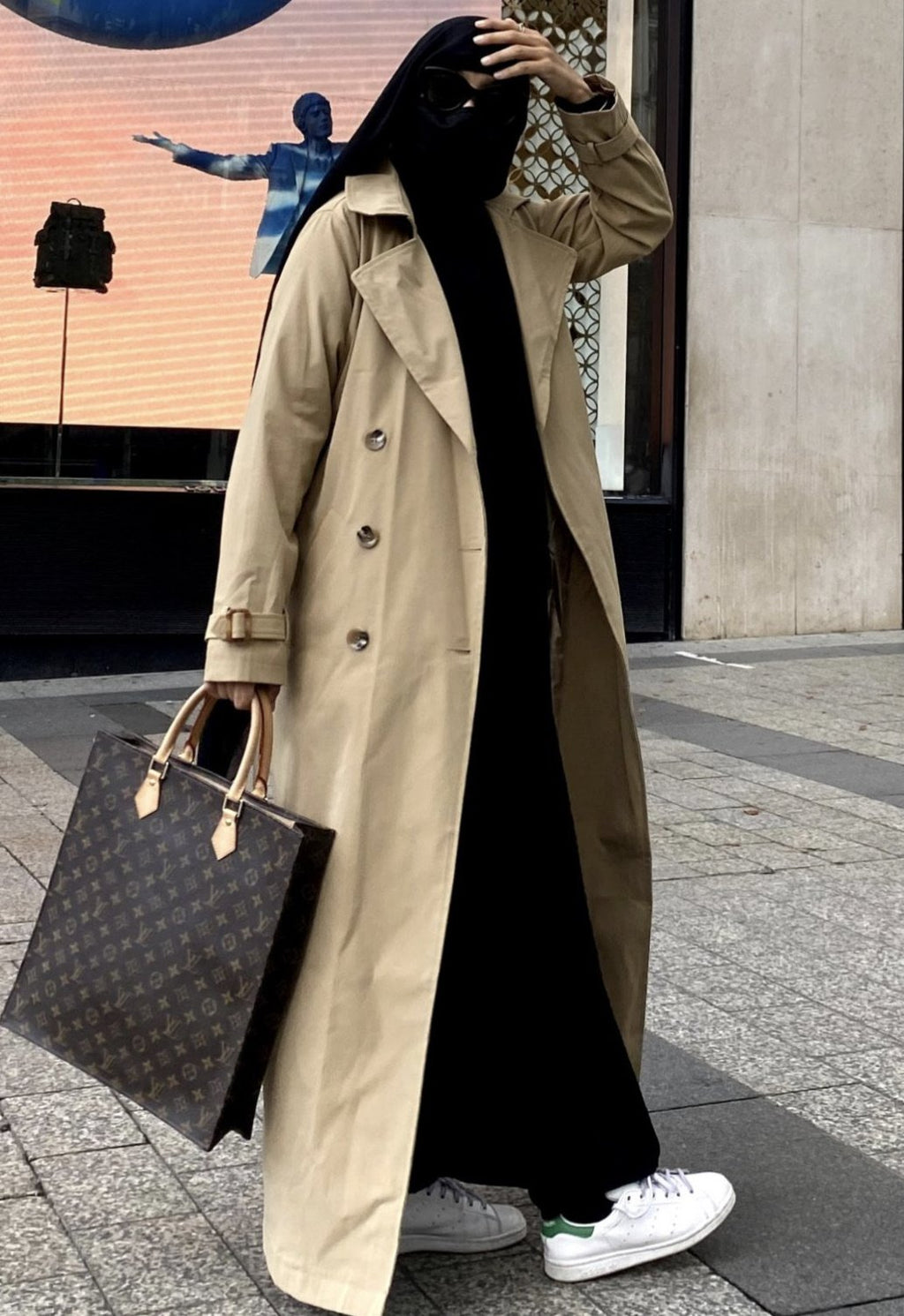 NEW ! MAXI TRENCH PARIS Beige