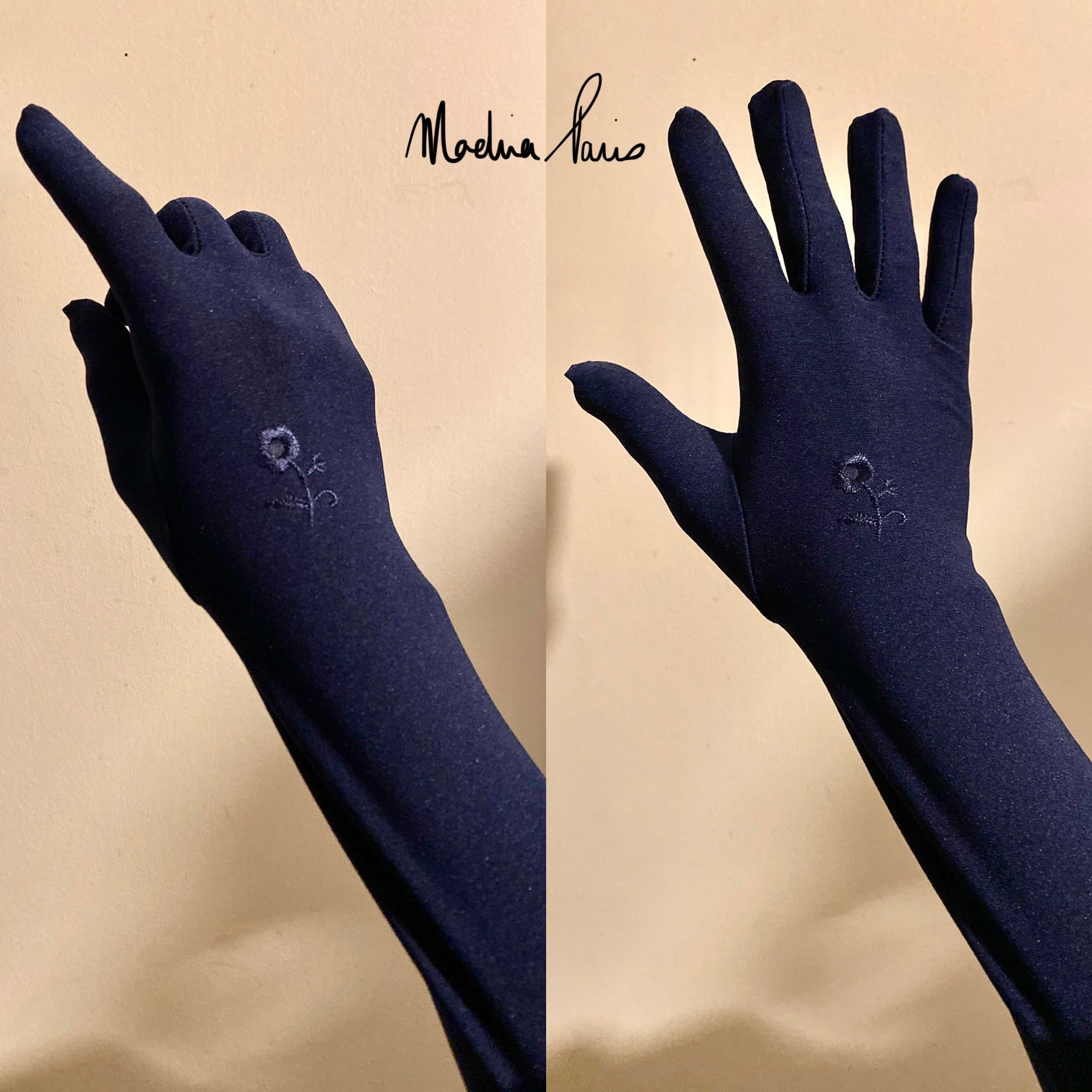 GLOSSY GLOVES NAVY