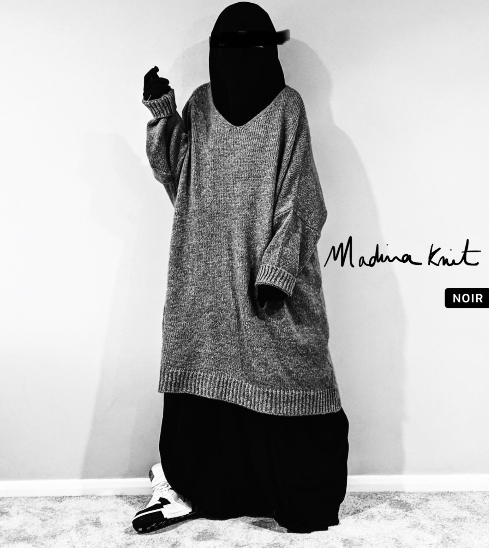 NEW MAXI SWEAT WOOLY BLACK PREMIUM Knit
