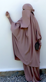 JILBAB DELUXE MAKKAH Golden Sand  (+ niqab included )