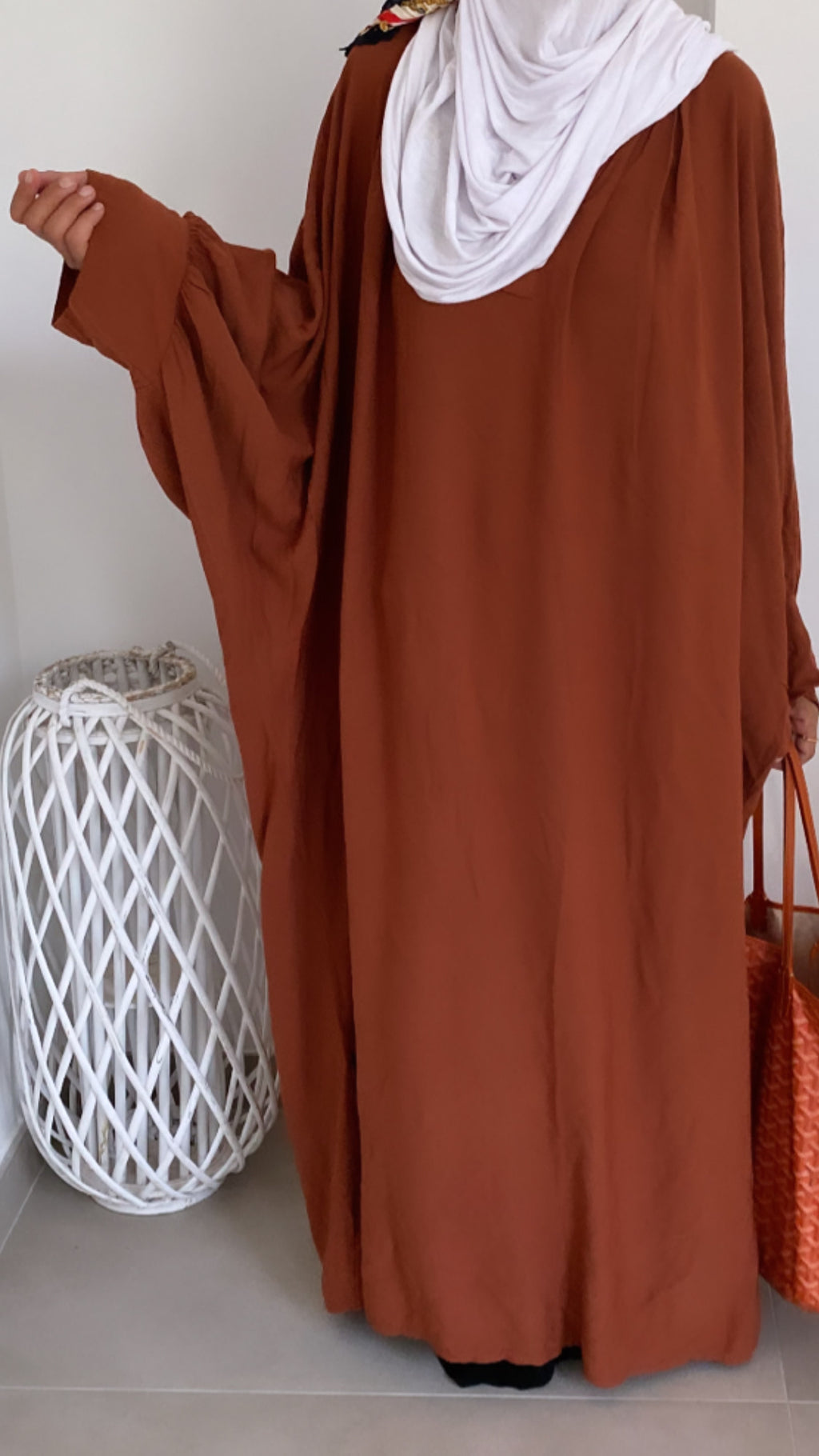 New ! KAFTAN AWA Tan (top - abaya )