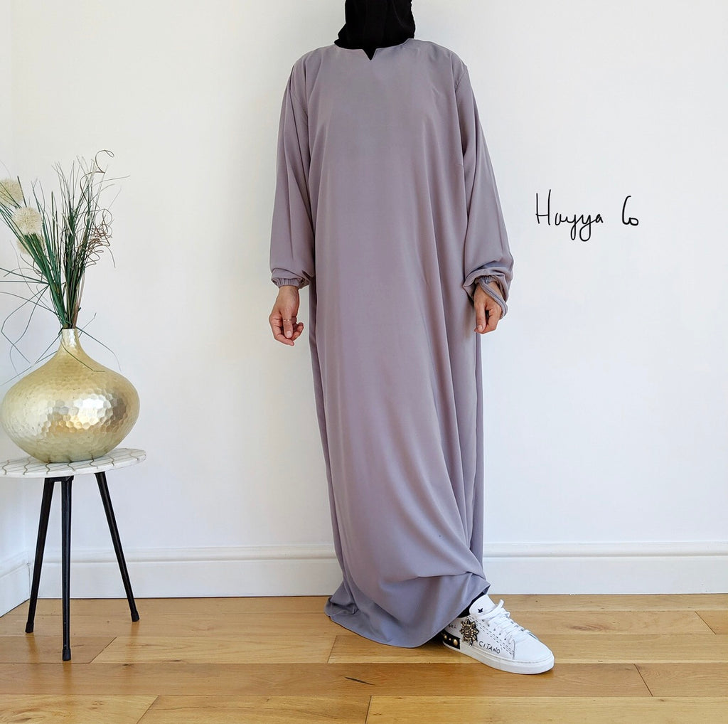 Abaya Hayya Light Grey