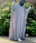 ABAYA BUTTERFLY AMANA BASIC LIGHT GREY