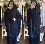 JILBAB URBANA 2P SET SKIRT All Black