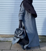 NEW MAXI LONG SWEAT KNIT CABLE Grey