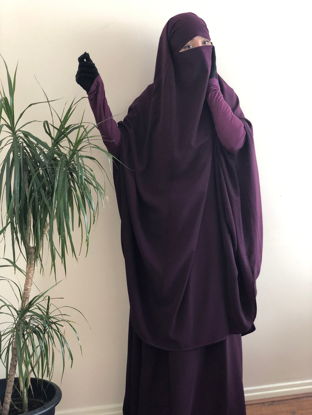 Jilbab Urbana 2 Pieces Plum