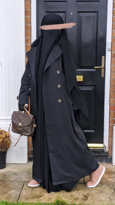 NEW ! MAXI TRENCH PARIS Black
