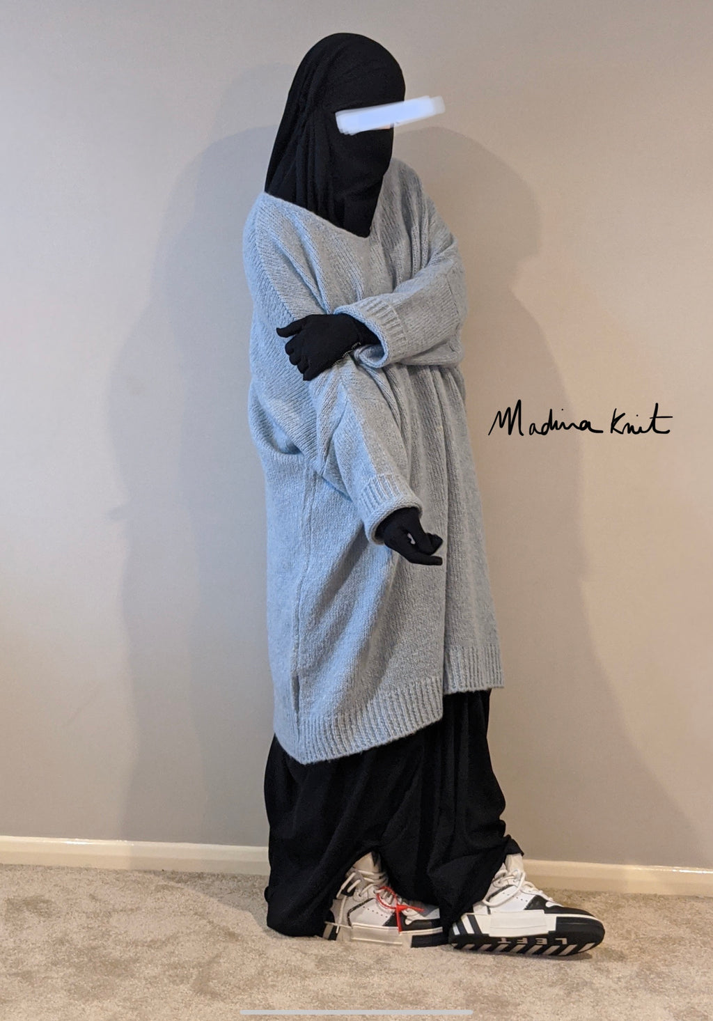 MAXI SWEAT WOOLY Pearl blue PREMIUM