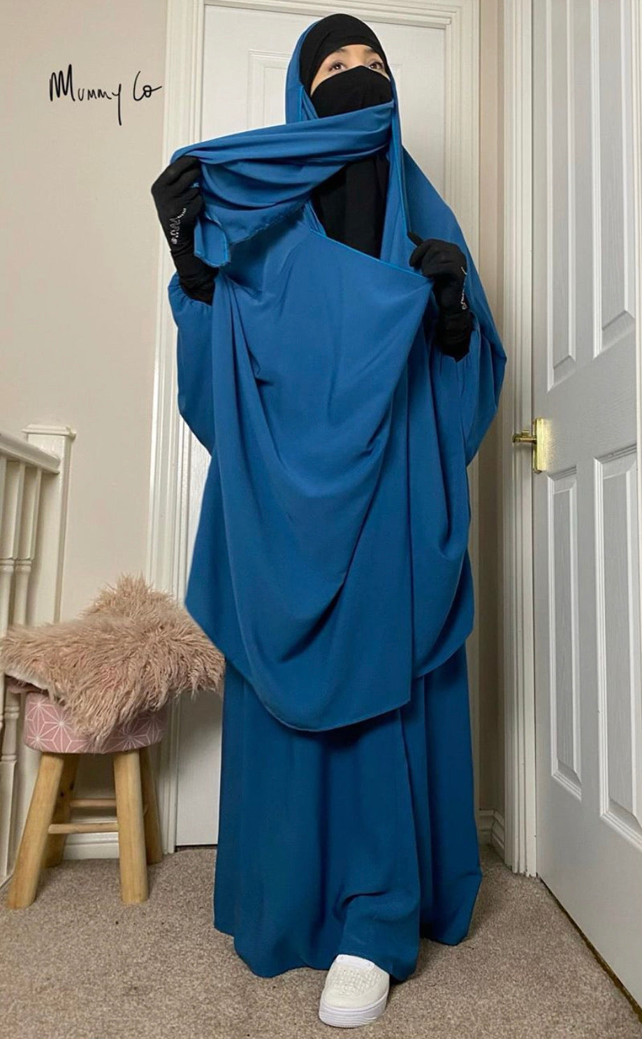 JILBAB 2 PIECES SET MUMMY & MATERNITY Blue