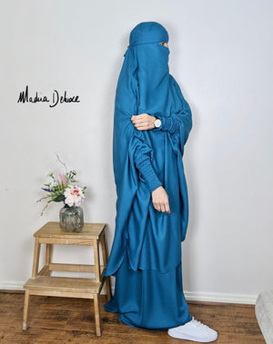 JILBAB DELUXE MAKKAH lagoon (+ niqab included )