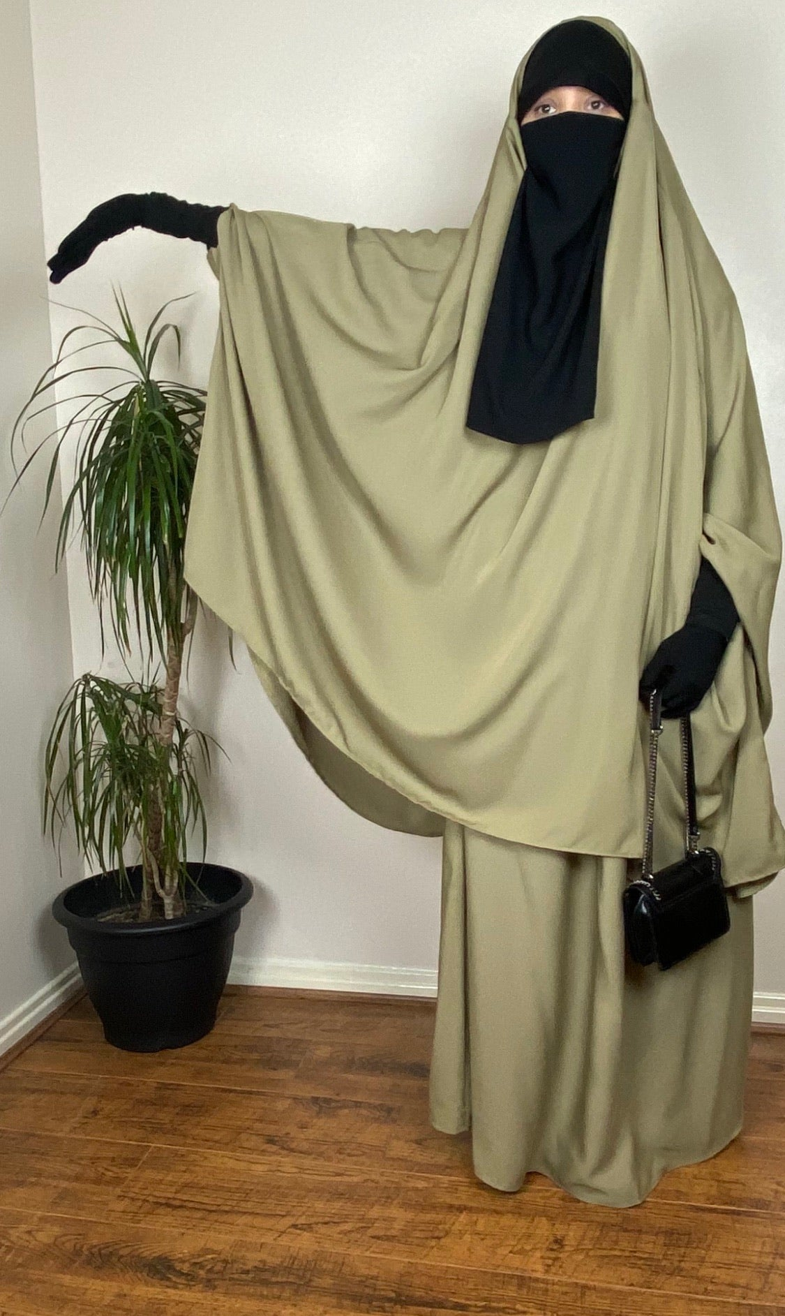 JILBAB 2P NOOR XTRA DELUXE Olive /Soft Khaki