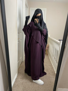 New ABAYA MUMMY WAVY Plum 💜