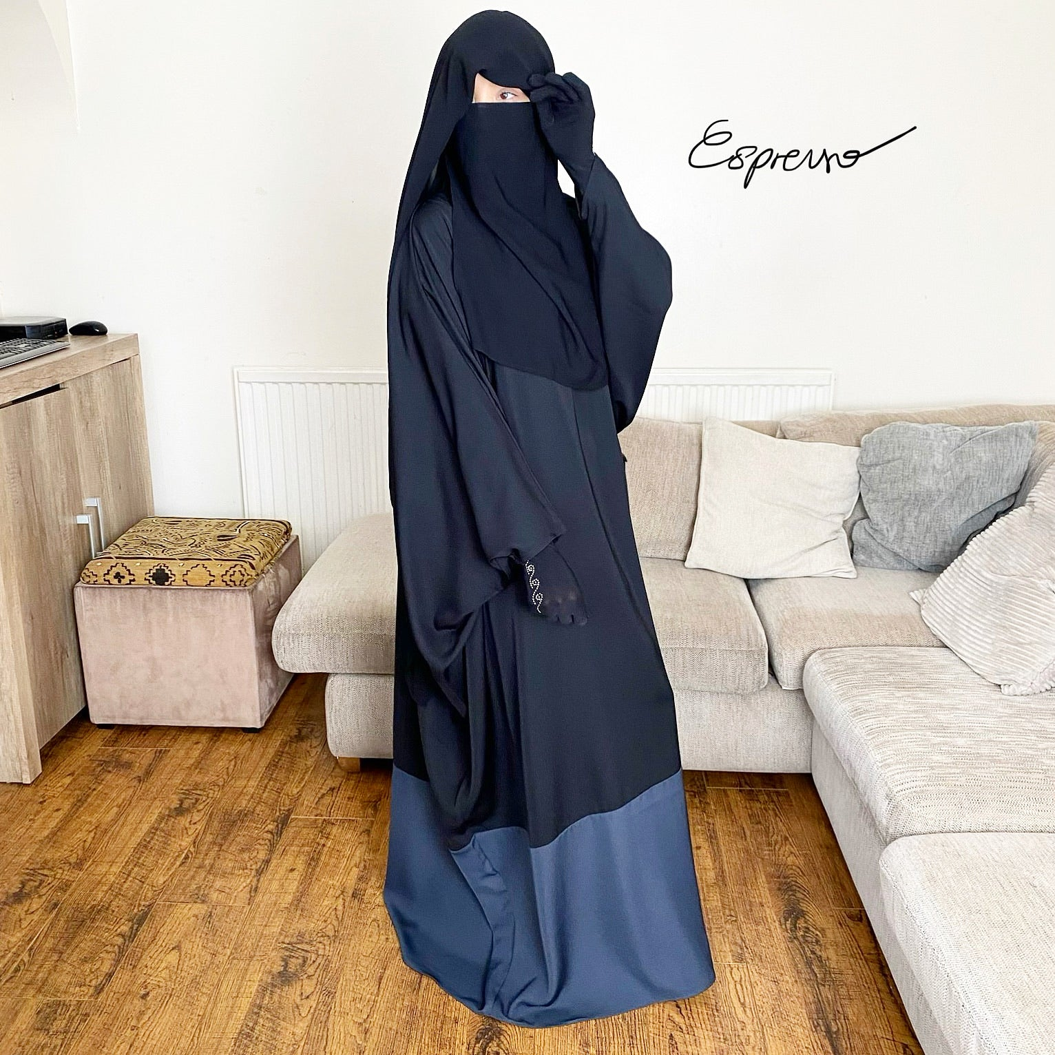 NEW THE ABAYA ESPRESSO DELUXE BLACK /GREY