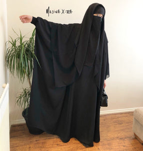 THE ABAYA NOOR XTRA DELUXE BLACK