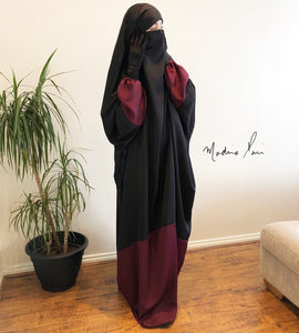NEW ! JILBAB ESPRESSO BURGUNDY DELUXE fabric