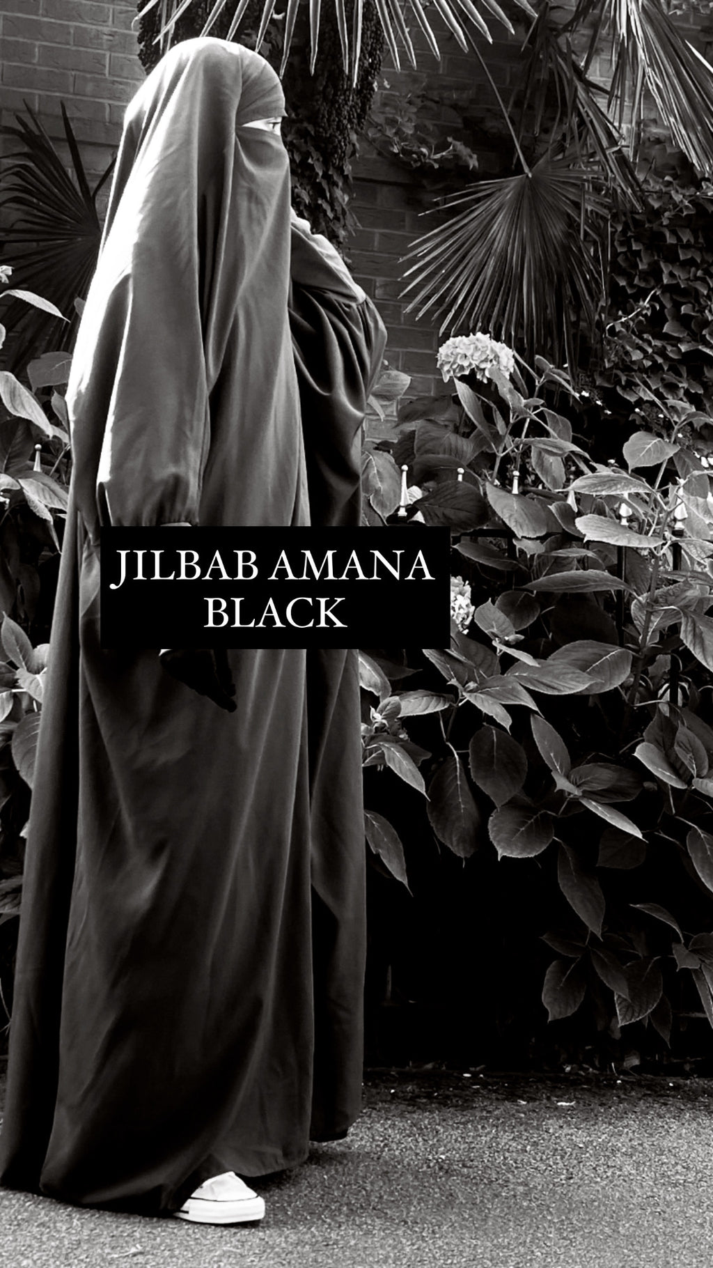 JILBAB AMANA 1 PIECE BLACK BASIC