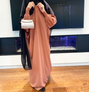 ABAYA BASIC FRILLY ZIPP (all colours )