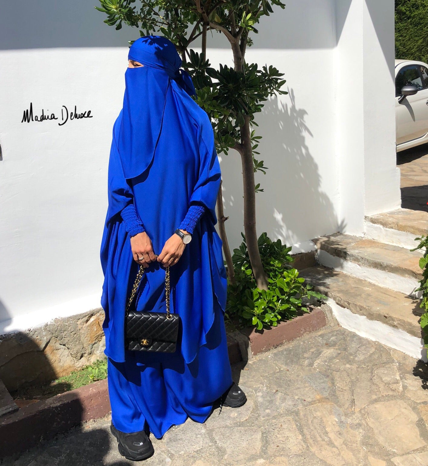 JILBAB DELUXE MAKKAH Royal Blue (+ niqab included )
