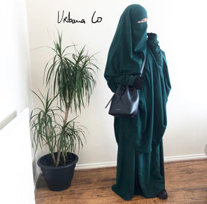 Jilbab Urbana 2 Pieces Forest Green