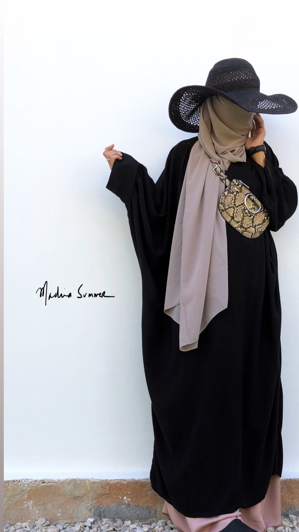 KAFTAN AWA Black (top - abaya )