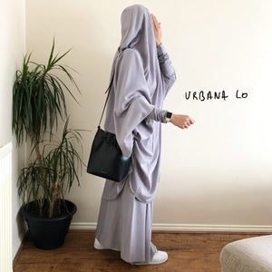 Jilbab Urbana SET 2 Pieces Light Grey