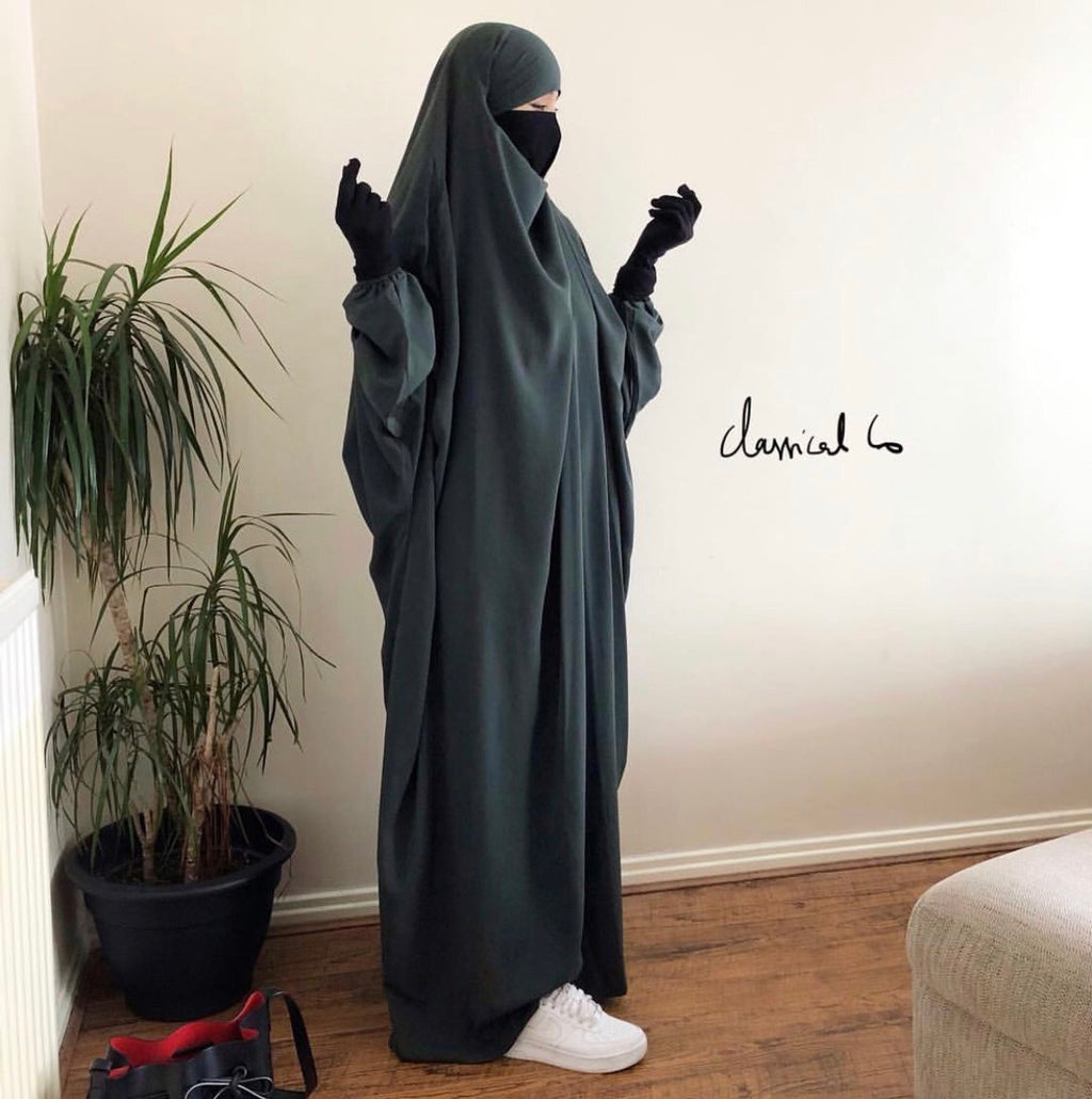 JILBAB CLASSICAL KHAKI 1 piece or 2 pieces