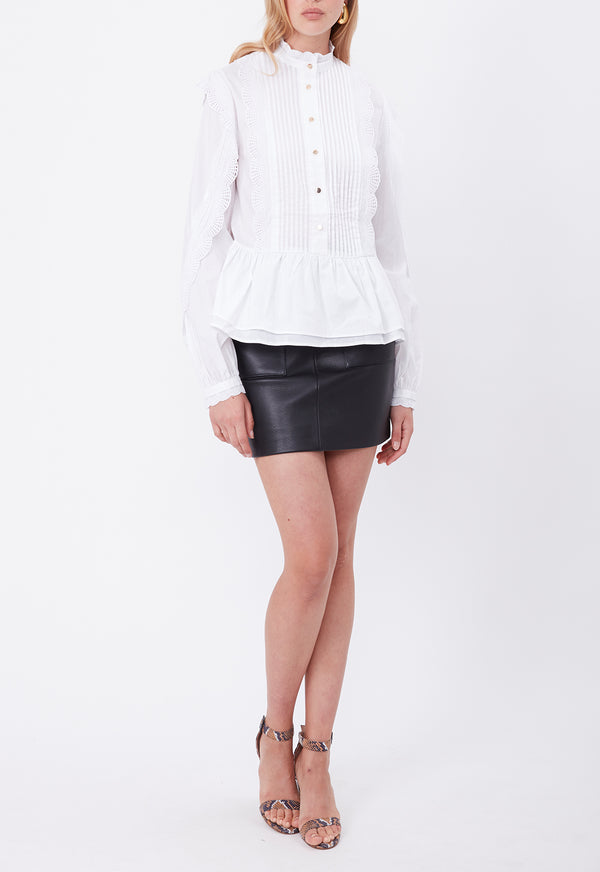 ALFIE LACE BLOUSE WHITE