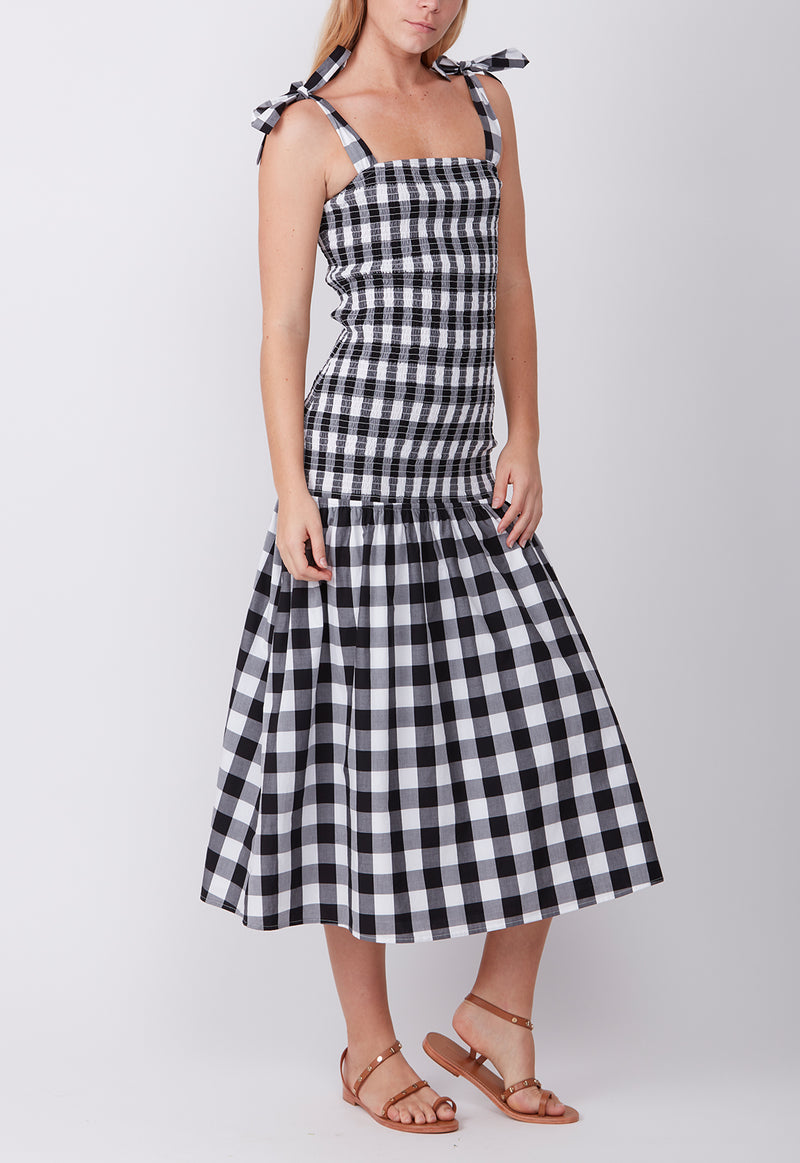 ANY GIVEN SUNDAY DRESS BLACK CHECK