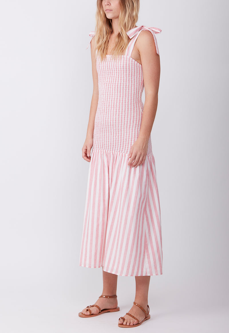 ANY GIVEN SUNDAY DRESS PINK STRIPE