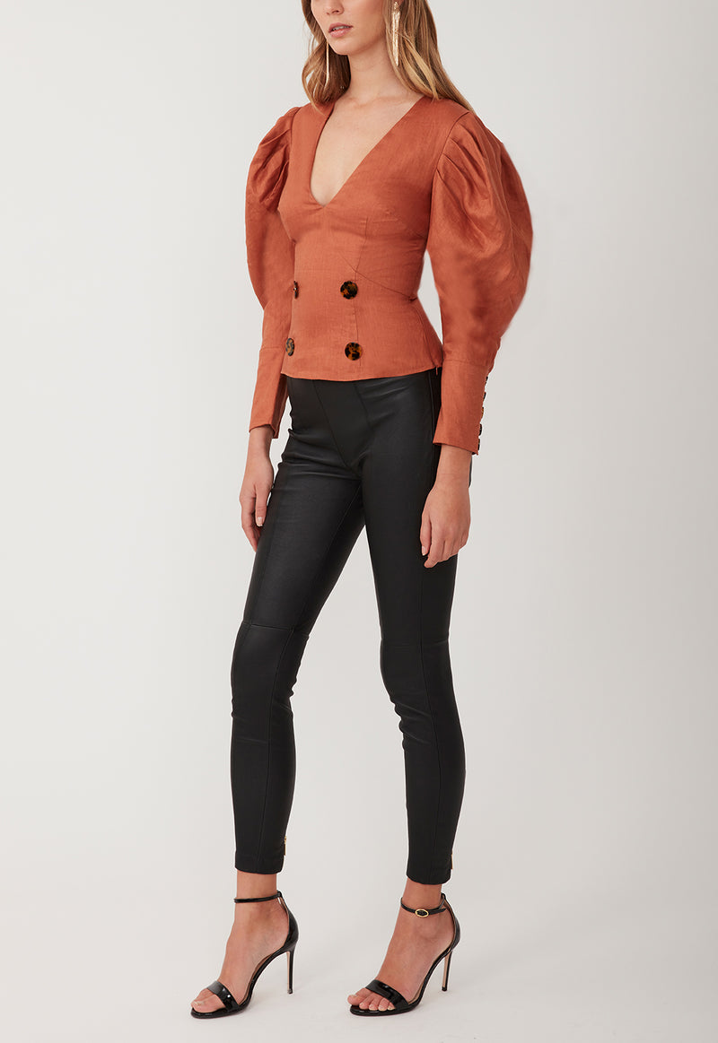 CLOUD 9 BLOUSE BURNT ORANGE