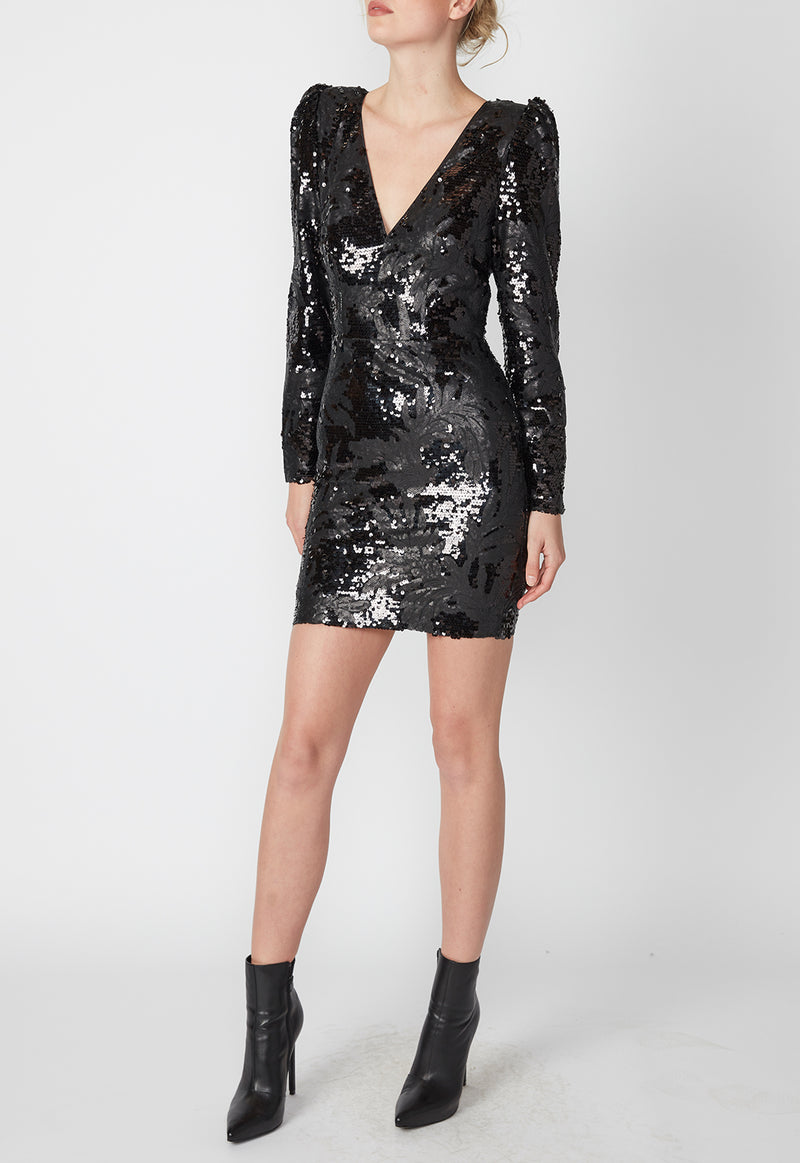DARK NIGHT MINI DRESS