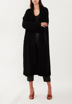 DEEP POCKETS CARDIGAN BLACK