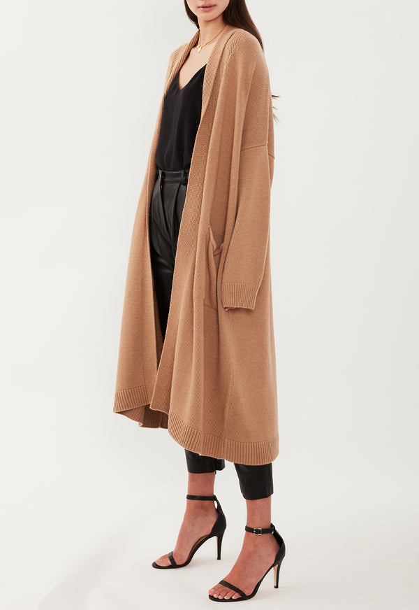DEEP POCKETS CARDIGAN CAMEL