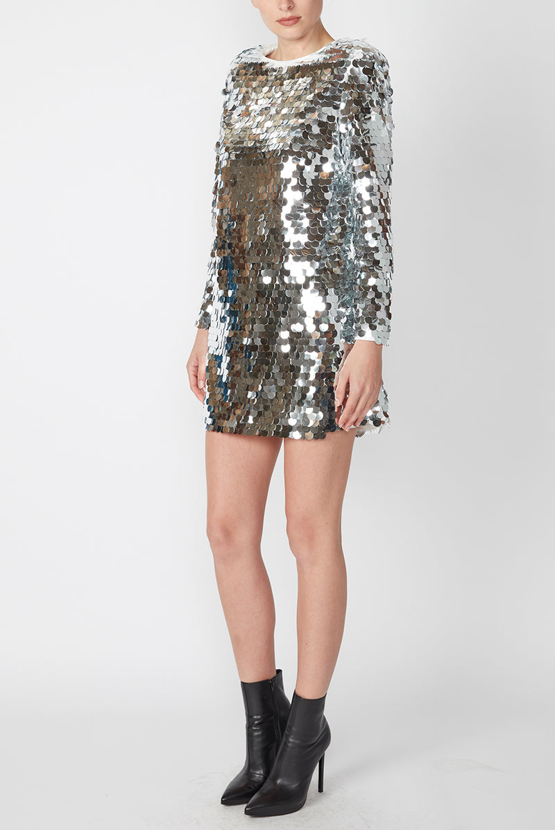 DISCO LIGHTS MINI DRESS