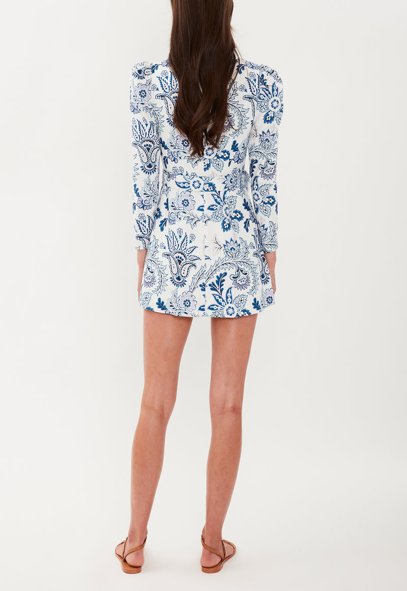 THE EDIE MINI DRESS BLUE